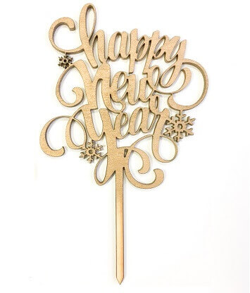 """Topper """"Happy new year"""""""